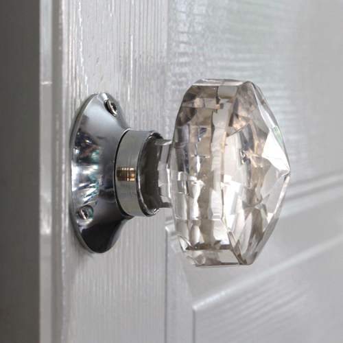 Glass mortice knobs